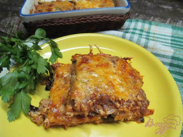 фото рецепта: Баклажаны с сыром запеченные в томатном соусе
