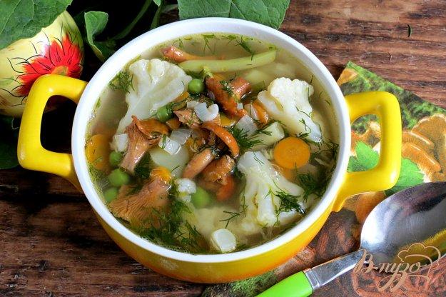 фото рецепта: Суп овощной с лисичками
