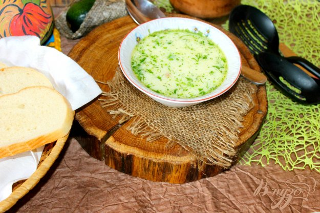 фото рецепта: Сливочный суп с кабачком и копченой колбасой