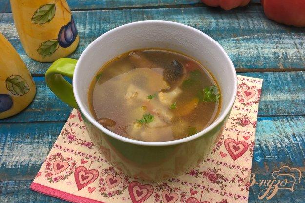 фото рецепта: Грибной суп с овощами