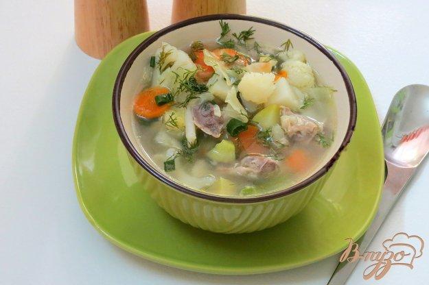 фото рецепта: Суп из куриных желудочков с овощами
