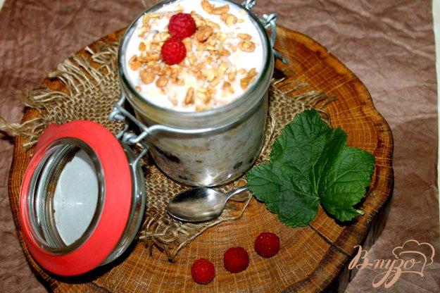 фото рецепта: Завтрак в банке из овсянки с летними ягодами