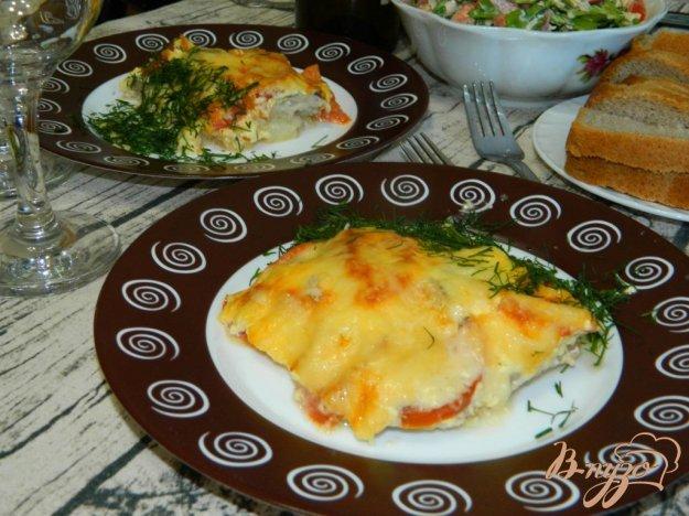 фото рецепта: Рыба, запеченная с овощами под сыром