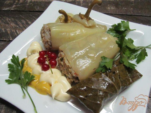 фото рецепта: Фаршированные перцы с сыром сулугуни