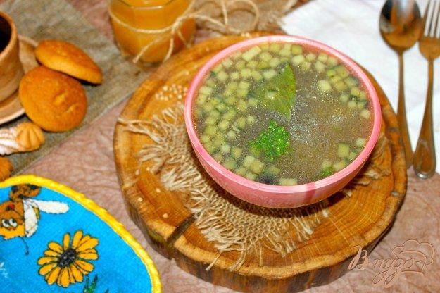 фото рецепта: Гречневый суп с баклажаном и кабачком