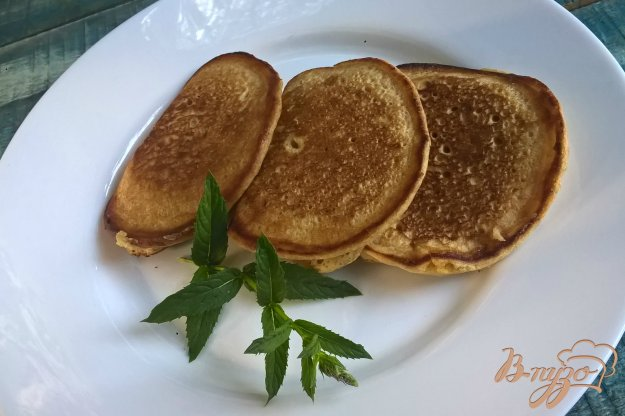 фото рецепта: Оладьи с цельнозерновой и кукурузной муки