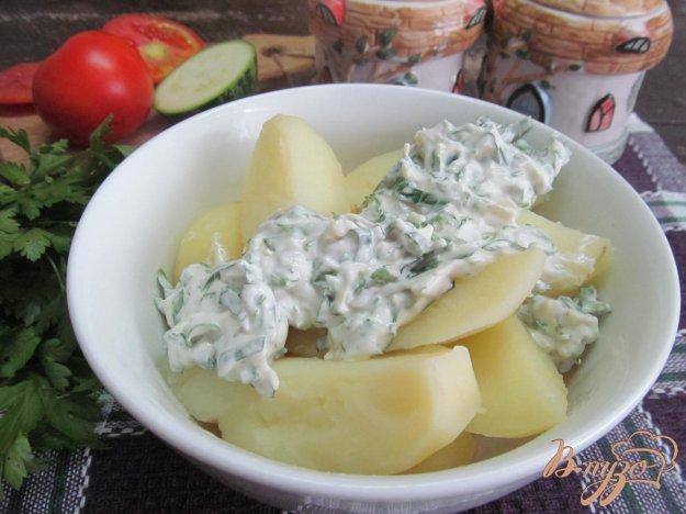 фото рецепта: Молодой картофель под мятным соусом