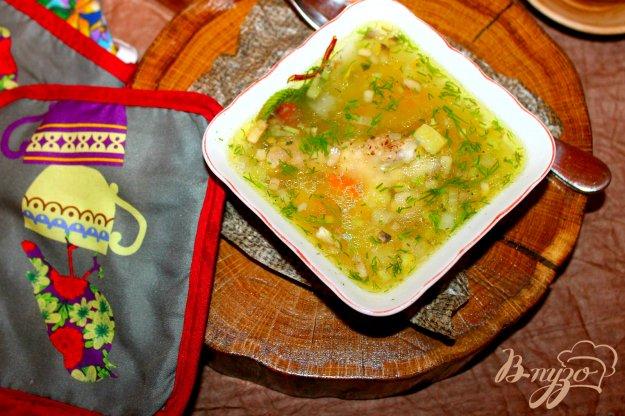 фото рецепта: Суп с куриными крыльями и грибами