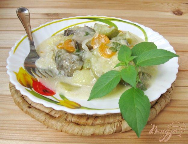фото рецепта: Овощное рагу со сметаной