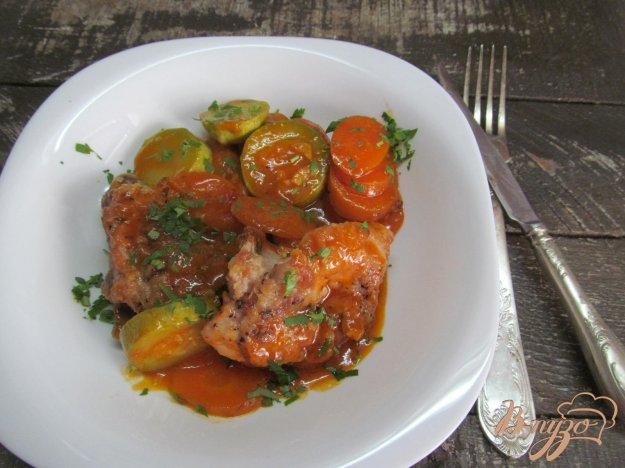 фото рецепта: Рагу из курицы с морковью и кабачком
