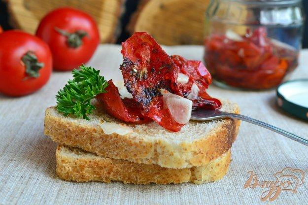 фото рецепта: Вяленые помидоры быстрого приготовления в микроволновке