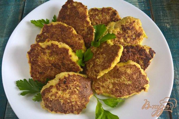 фото рецепта: Курино-кабачковые оладьи