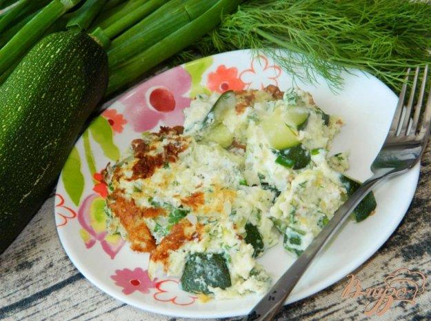 фото рецепта: Омлет с кабачками и зеленью