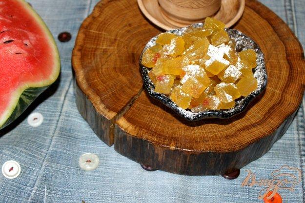 фото рецепта: Цукаты из арбузных корок с апельсиновым вкусом