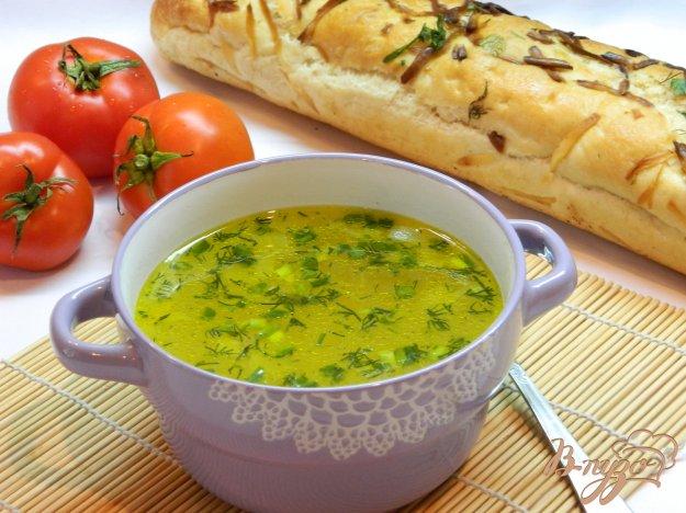 фото рецепта: Легкий суп с вермишелью и зеленью