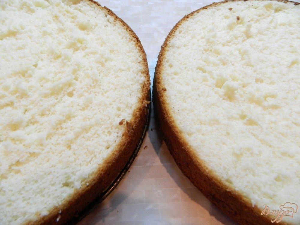Пирог бисквитный с прослойкой простой рецепт