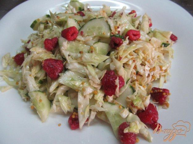 фото рецепта: Капустный салат с огурцом и малиной