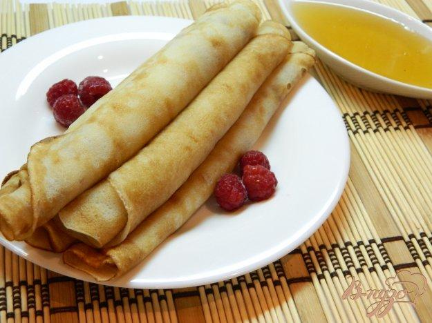 фото рецепта: Блины на кефире с медом