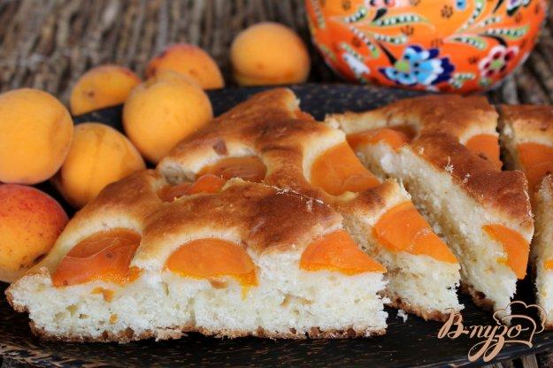 фото рецепта: Пирог с кокосовой стружкой и абрикосом