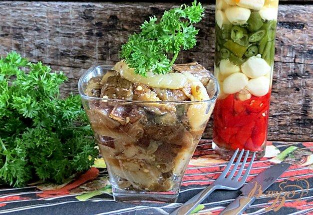фото рецепта: Закуска из запеченных баклажанов и перца