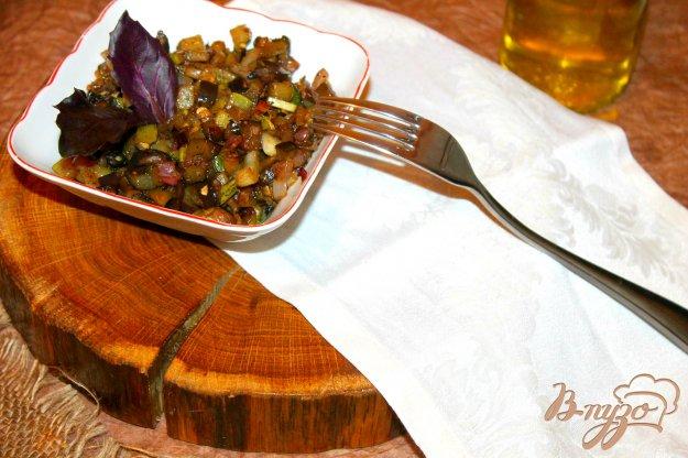 фото рецепта: Тушеные овощи с бальзамическим уксусом и свежим базиликом