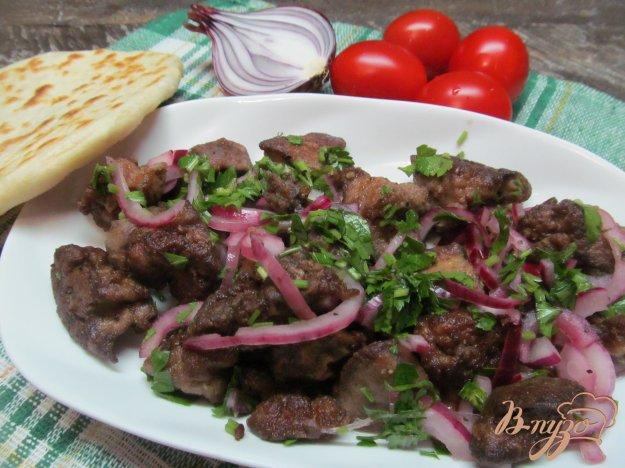 фото рецепта: Жареная печень по-албански