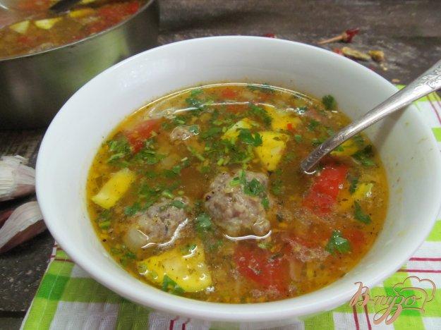 фото рецепта: Быстрый суп с фрикадельками
