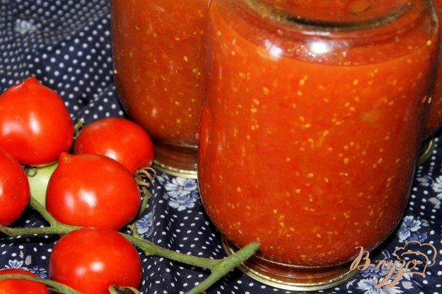 фото рецепта: Заготовка из консервированного томата на борщ