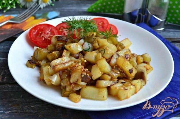 фото рецепта: Картофель жареный с баклажанами