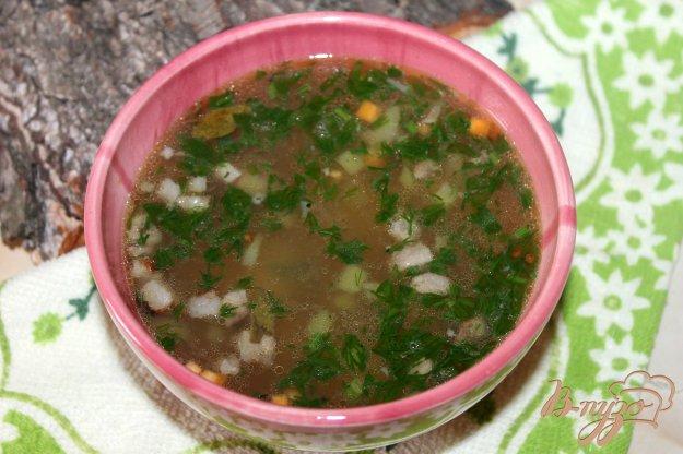 фото рецепта: Суп с паутинкой и свининой