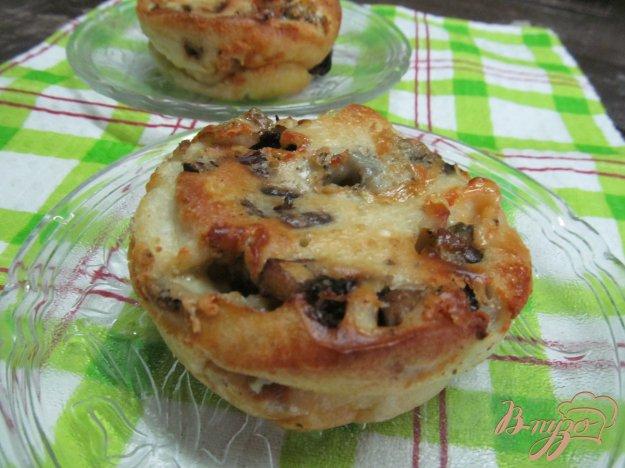 фото рецепта: Йоркширский пудинг с грибами и сыром