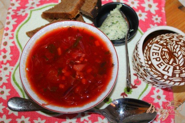 фото рецепта: Борщ с краснокочанной капустой