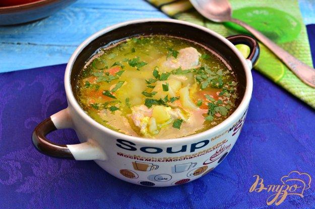 фото рецепта: Куриный суп с лапшой и яйцом