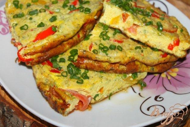 фото рецепта: Пышный омлет в духовке с овощами