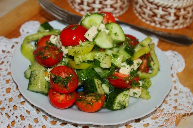 фото рецепта: Дачный салат с брынзой