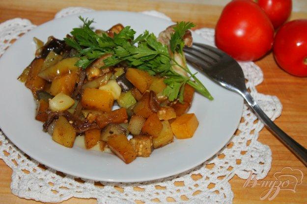 фото рецепта: Тушенные овощи с тыквой