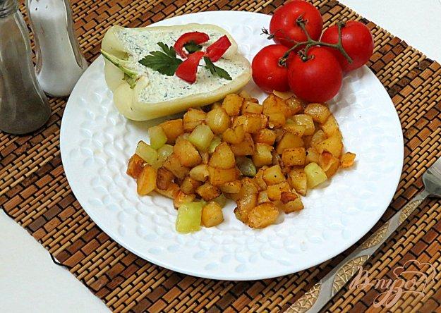 фото рецепта: Картофель жареный с кабачков