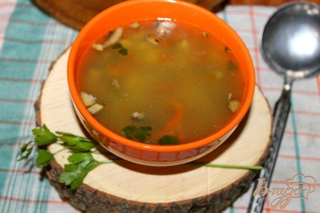 фото рецепта: Суп с грибами, сладким перцем и яйцом