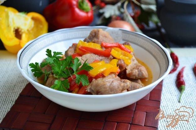 фото рецепта: Острая свинина тушеная с болгарским перцем