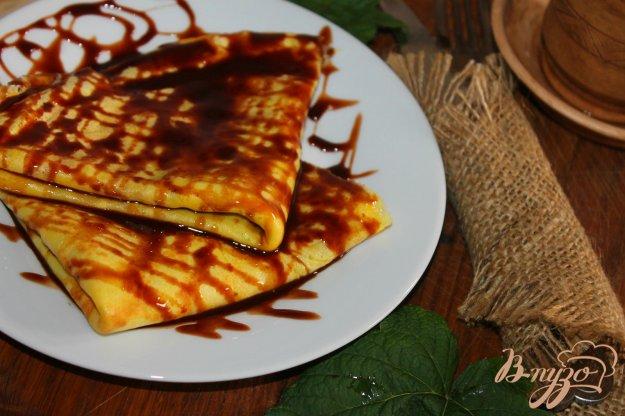 фото рецепта: Блины на завтрак с шоколадом