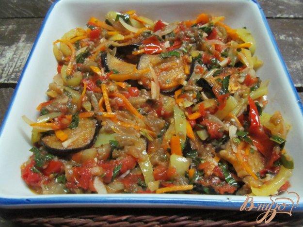 фото рецепта: Аджапсандали с печеным и жареным баклажаном
