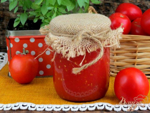 фото рецепта: Соус томатный с красным перцем (на зиму)