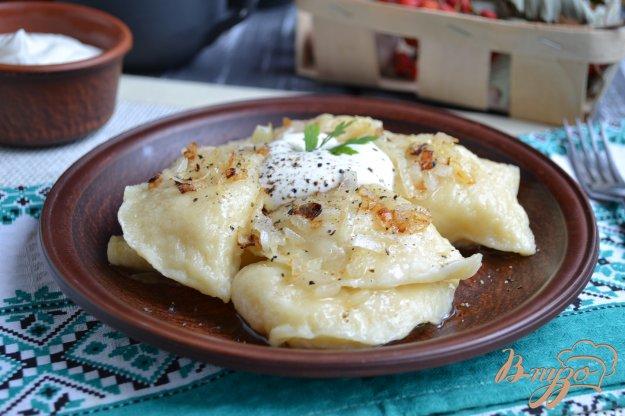 фото рецепта: Вареники с картофелем и сыром на пару из творожного теста