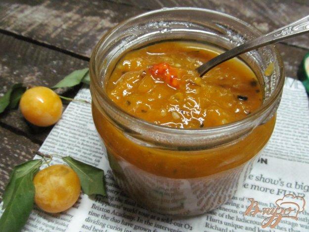 фото рецепта: Соус из алычи кисло-сладкий