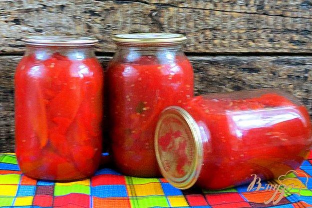 фото рецепта: Лечо из болгарского перца и помидоров (на зиму)