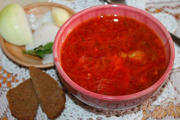 фото рецепта: Борщ на утином бульоне с мясом