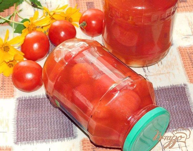 фото рецепта: Сладкие помидоры в томатной пасте