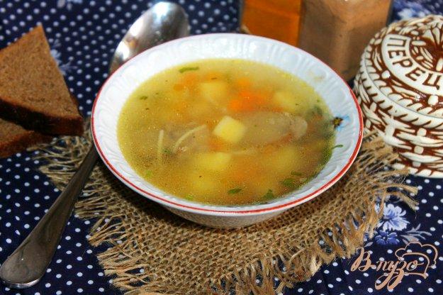 фото рецепта: Суп с домашней колбасой и вермишелью