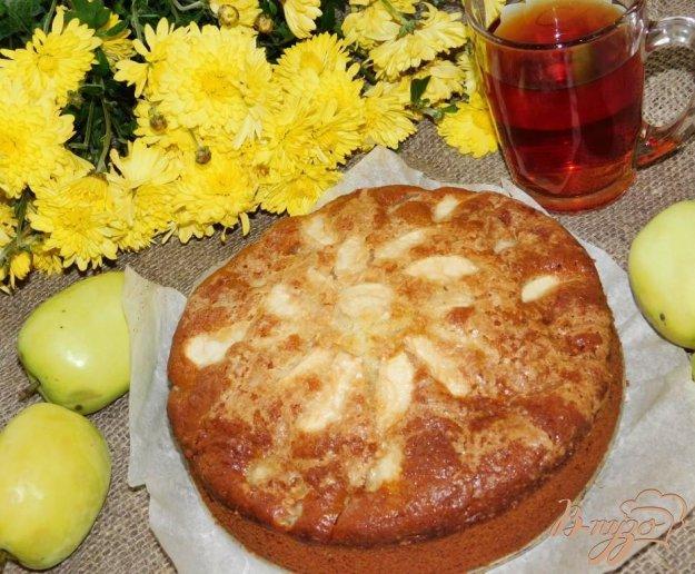 фото рецепта: Яблочный пирог на кефире