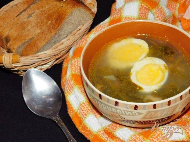 фото рецепта: Суп с щевелем и фрикадельками